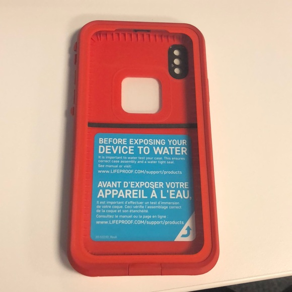 LifeProof FRE iPhone X (10) Red Grey Case 5e89025a28